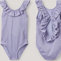 "COS(コス) 子供用水着・ビーチグッズ ""COS KIDS"" FRILLED TEXTURED SWIMSUIT LILAC"