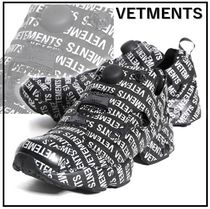 VETMENTS x Reebok Fury*Black White*ポンプフューリー*黒地 白*