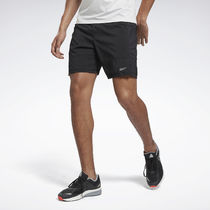 [ Reebok ] MEN'S RUNNING RE 7 Inch Shorts - WG (Black)