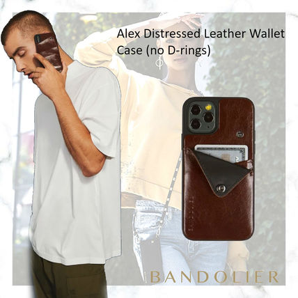 Bandolier スマホケース・テックアクセサリー iPhone11pro-Alex Distressed Leather Wallet Case (no D-rings)