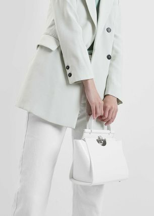 Charles&Keith ハンドバッグ ★Charles&Keith★ Croc-Effect Trapeze Bag★(11)