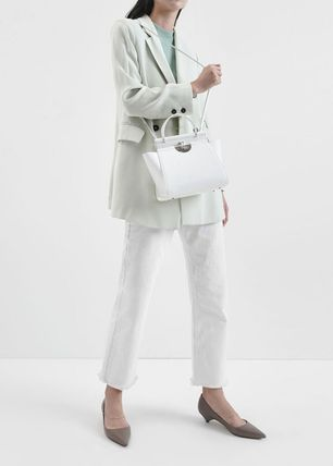 Charles&Keith ハンドバッグ ★Charles&Keith★ Croc-Effect Trapeze Bag★(13)