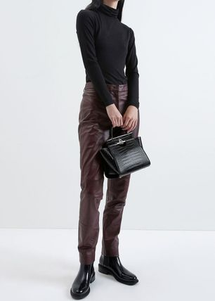 Charles&Keith ハンドバッグ ★Charles&Keith★ Croc-Effect Trapeze Bag★(20)