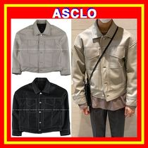 【ASCLO】 Dro Cutting Stitch Leather Jacket ◆2色 /追跡付