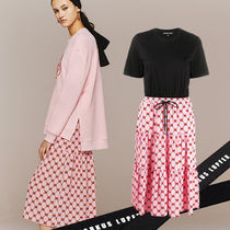Markus Lupfer★Kia Iconic Lip Tiered Tシャツワンピース