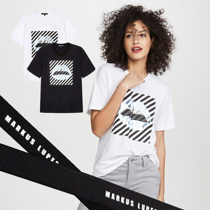 Markus Lupfer Tシャツ・カットソー Markus Lupfer★Alex Paintedリッププリント Tシャツ TEE327
