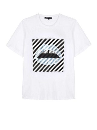 Markus Lupfer Tシャツ・カットソー Markus Lupfer★Alex Paintedリッププリント Tシャツ TEE327(5)
