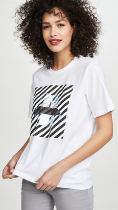 Markus Lupfer Tシャツ・カットソー Markus Lupfer★Alex Paintedリッププリント Tシャツ TEE327(6)