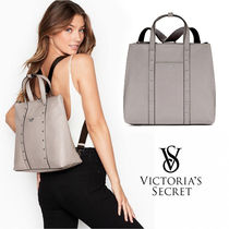 VICTORIA'S SECRET Studded Convertible Backpack 2WAY グレー