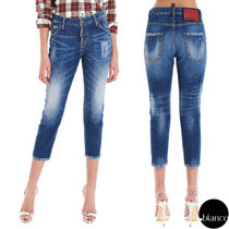 関税込DSQUARED2 I Love D2 Cool Girl Cropped Jeans ロゴ