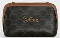 CELINE CLUTCH WITH CHAIN IN TRIOMPHE CANVAS