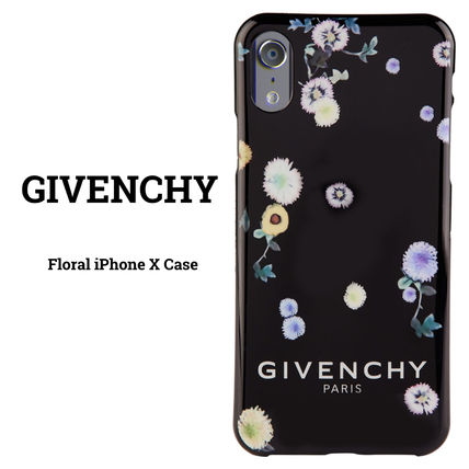 GIVENCHY スマホケース・テックアクセサリー 【国内発送】GIVENCHY☆Floral iPhone X Case☆花柄/ブラック