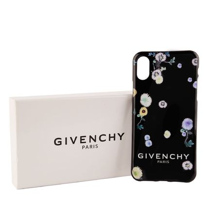 GIVENCHY スマホケース・テックアクセサリー 【国内発送】GIVENCHY☆Floral iPhone X Case☆花柄/ブラック(3)