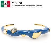 Marni metal and enamel cuff bracelet