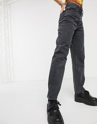 ASOS デニム・ジーパン COLLUSION x006 mom jeans in washed black(4)