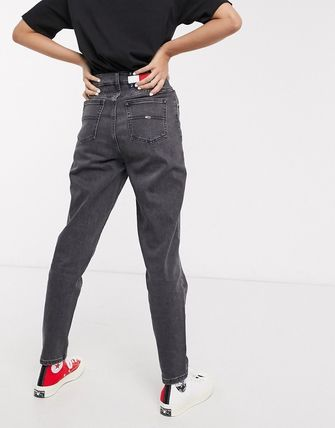 ASOS デニム・ジーパン Tommy Jeans tapered mom jeans in washed black(2)