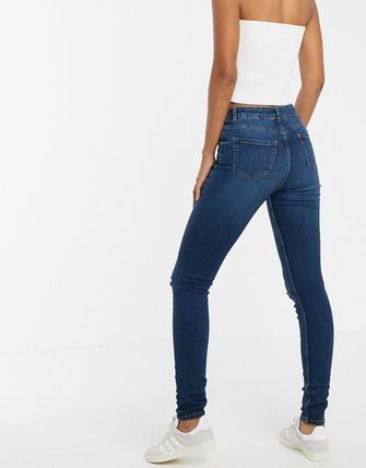 ASOS デニム・ジーパン New Look Tall ripped skinny jeans in blue(2)
