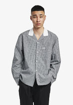 フレッドペリー シャツ F4547 07 GINGHAM REVERE COLLAR SHIRT