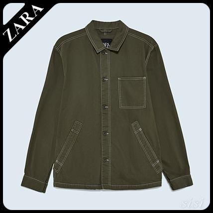 ZARA ジャケットその他 ☆ Men's ZARA☆ WORKER JACKET WITH TOPSTITCHING