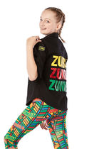 ZUMBA(ズンバ) キッズ用トップス ZUMBA ZW Juniors For All Button Up (Bold Black)