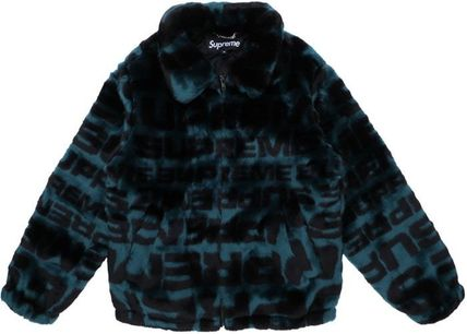 Supreme ジャケットその他 Supreme Faux Fur Repeater Bomber Dark Teal SS 18 WEEK 1