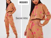 Missguided(ミスガイデッド) セットアップ 国内発送★MissguidedxPlayboyスエットセット(PK-上下セット)