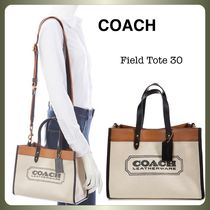 【COACH】Field Tote 30 With Coach Badge