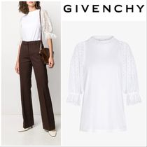 【GIVENCHY】T-SHIRT WITH LACE SLEEVES