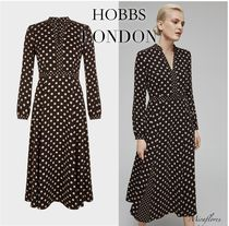 【Hobbs London】ANDREA DRESS Dots フレアワンピース