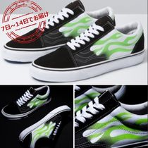 数量限定VANS OLD SKOOL NEON GREEN FLAME(22-28㎝)VN0A4U3BXEY