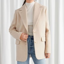 """& Other Stories"" Wool Blend Oversized Blazer LightBeige"