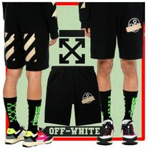 ★韓国の人気★OFF-WHITE★ SWEATSHORTS★