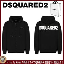 追跡★関税★送料込/DSQUARED2/BASIC BACK LOGO ZIP UP FOOD