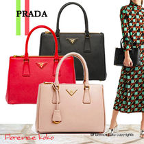 関税込み国内発送 PRADA☆Saffiano Galleria 2Way Bag1BA863