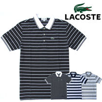Lacoste (ラコステ) Stripe Neck Line Polo Slim-Fit 3カラー