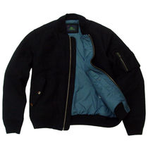 Lacoste (ラコステ)Wool Melton Material Bomber Jacket Black