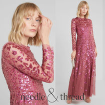 【Needle&Thread】 ROSMUND SEQUIN GOWN MAXI DRESS ワンピース