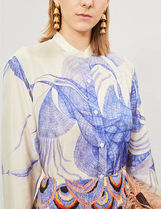 Dries Van Noten no-color sketch print blouse ブラウス