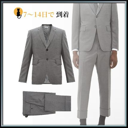 THOM BROWNE スーツ ◆国内発送◆Single-breasted wool-twill suit and tie