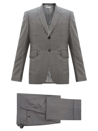 THOM BROWNE スーツ ◆国内発送◆Single-breasted wool-twill suit and tie(2)