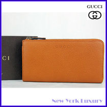 GUCCI★グッチ★素敵!Saffron Leather L-Zip Wallet