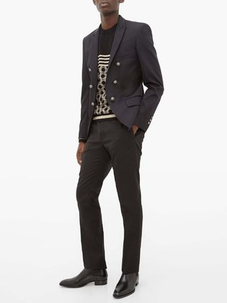 BALMAIN スーツ ◆国内発送◆Open-front double-breasted cotton-blend blazer(7)