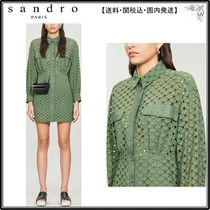 【海外限定】sandroワンピース☆Shera embroidered cotton mini