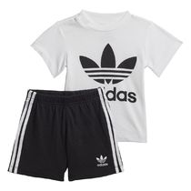 ADIDAS ORIGINALS★ Cotton T-Shirt and Shorts Outfit 3M-4A