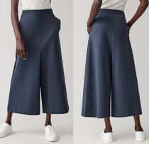 """COS"" TOPSTITCHED JERSEY CULOTTES BLUE"