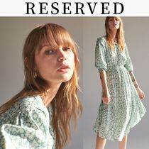 RESERVED(リザーブド) ワンピース 新作【RESERVED(リザーブド) 】Patterned dress ワンピース