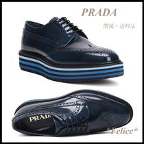 *PRADA*BRUSHED CALF LACE UP SHOES 関税/送料込