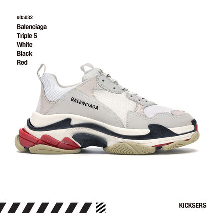 BALENCIAGA スニーカー 人気話題!Balenciaga Triple S White Black Red