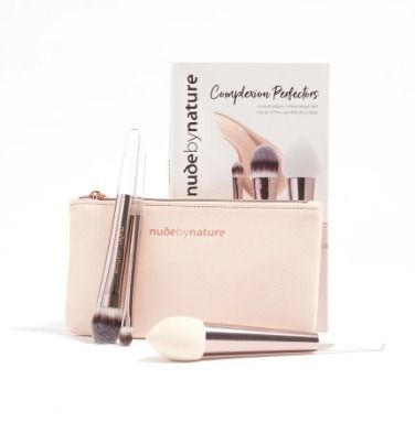 nude by nature ブラシ 限定☆コスメケース付★nude by nature★メイクブラシ3本セット