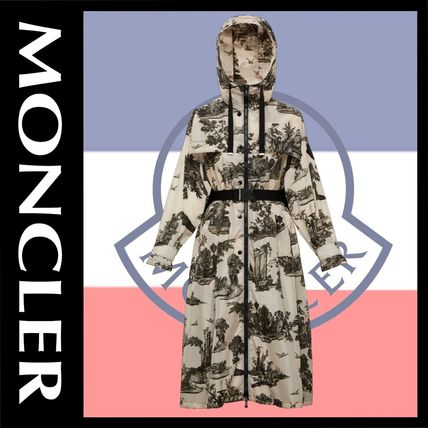 MONCLER アウターその他 モンクレール BOUTEILLE グラビアプリント ナイロン コート